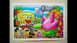 Download Video Request Bunga Bahari | Cara Menggambar dan Mewarnai Gradasi Oilpastel : Drawing Spongebob MP3 3GP MP4