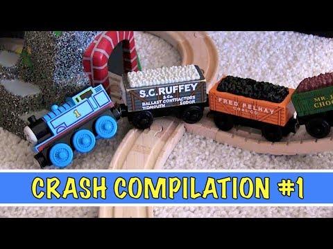 Seasons 1-5 Crash Compilation | Thomas & Friends Wooden Railway Adventures (Episodes 1-75)
