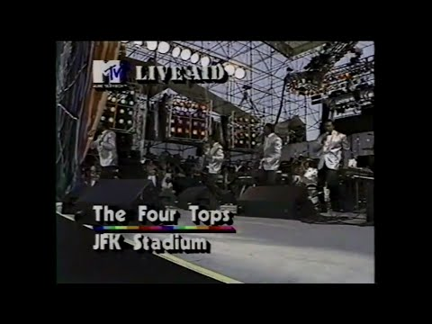 The Four Tops - I Can't Help Myself (MTV - Live Aid 7/13/1985)