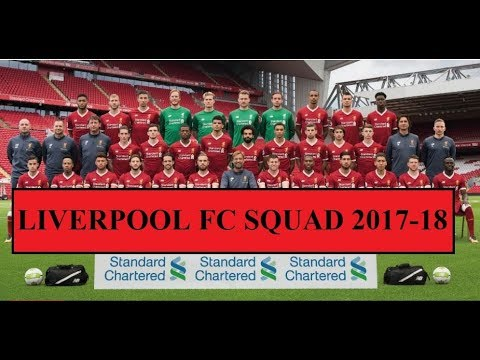 Liverpool Squad First Team 2017-18 ||HD||  (Official Kit Numbers)