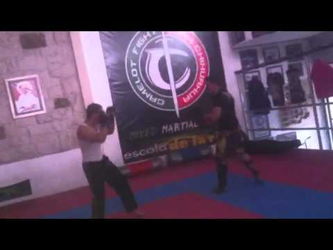 MMA fight, gym training