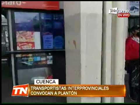 Transportistas interprovinciales convocan a plantón