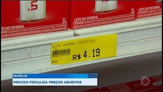 Marília: Procon fiscaliza preços abusivos