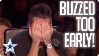 Video UH OH! When the Judges buzz TOO EARLY! | Britain's Got Talent MP3, 3GP, MP4, WEBM, AVI, FLV Oktober 2018
