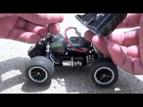 Losi Brushless MicroT chasing cars in the street