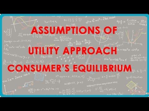 1147. CBSE Economics Class XII - Annahmen der Utility-Ansatz der Consumer  's Equilibrium