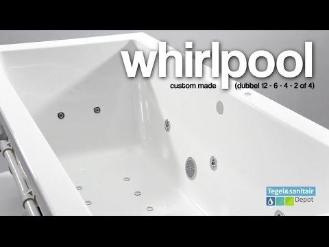Ligbad Bruynzeel Zeno 180 x 80 cm Balboa Whirlpool Dubbel systeem