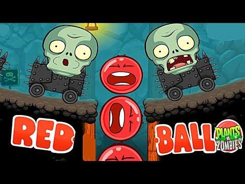 ЗЛОЙ КРАСНЫЙ ШАР И ДОБРЫЙ ЗОМБИ Несносный Шарик Plants vs zombies Red Ball 4 Мультик для детей (видео)