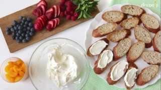 Bruschetta z owocami - przepis