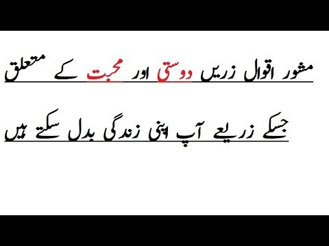 Quotes about friendship - Best Aqwal e Zareen of Hazrat Ali (R.A) Quotes About Love and Friendship in urdu