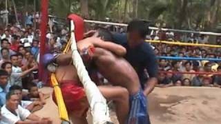 Muay Thai Fight Uttaradit Thailand-2 2003 Rounds 3+4+5
