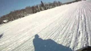 9. Racing on Rangeley Lake Maine