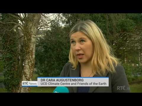 RTE six one news on Met Eireann 2016 weather data for Ireland