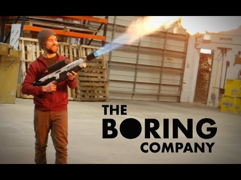 Guy Builds The Boring Company Flamethrower