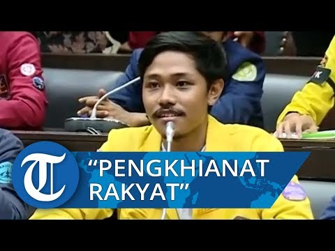 Viral Video Mahasiswa Teriak Tidak Percaya DPR di Hadapan Anggota Dewan di Gedung DPR RI