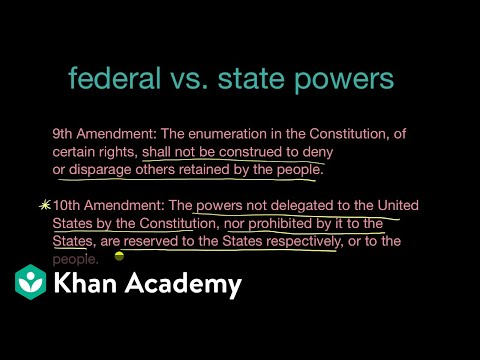 Federal and state powers and the Tenth and Fourteenth Amendments