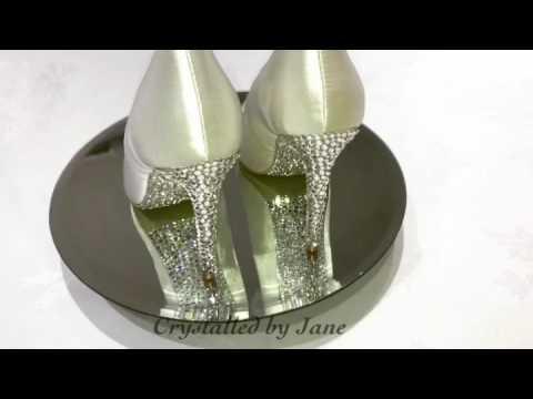 Bridal Shoes Heels Pumps Sole / Swarovski Crystal /  Bling Strass Bejazzled / Bespoke Custom Service