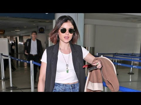 'Pretty Little Liars' Star Lucy Hale Looking Fashion Forward At LAX
