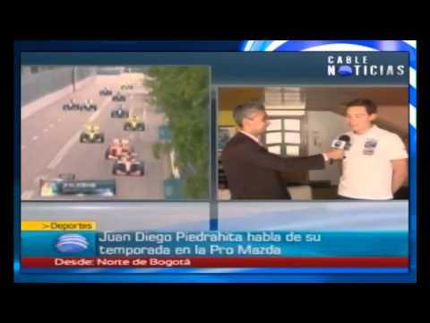 Entrevista del piloto Juan Diego Piedrahita para CableNoticias