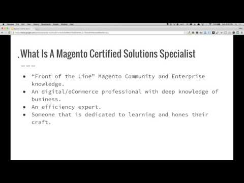 Magento Certified Solution Specialist Exam Study Guide - #1 Overview