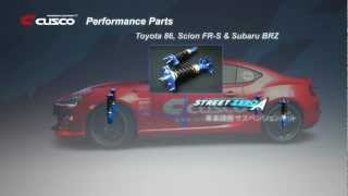 CUSCO Performance Parts for TOYOTA 86 / Scion FR-S / SUBARU BRZ