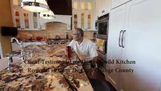 Customer Testimonial on Design Build Kitchen Remodel in Coto De Caza by APlus Kitchen