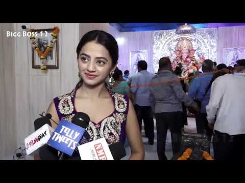 TV Serial Actress Helly Shah Reaction On Bigg Boss 12 At Andheri Cha Raja For Darshan
