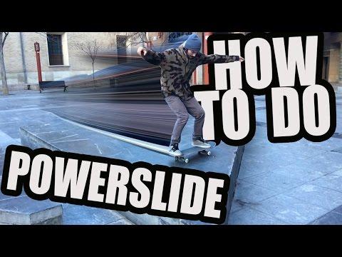 how to POWERSLIDE SKATE  en español