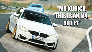 Robert Kubica pokazał yotuberowi jak się lata po torze Nurburgring