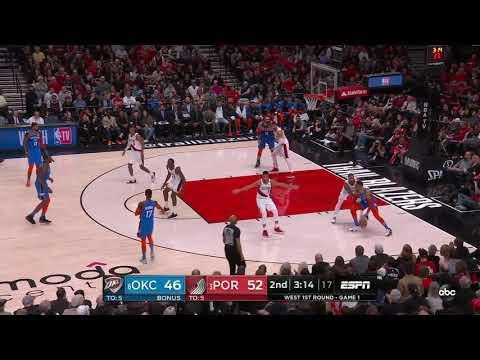 Dennis Schroder 04/14/2019 Oklahoma City Thunder vs Portland Trail Blazers Highlights