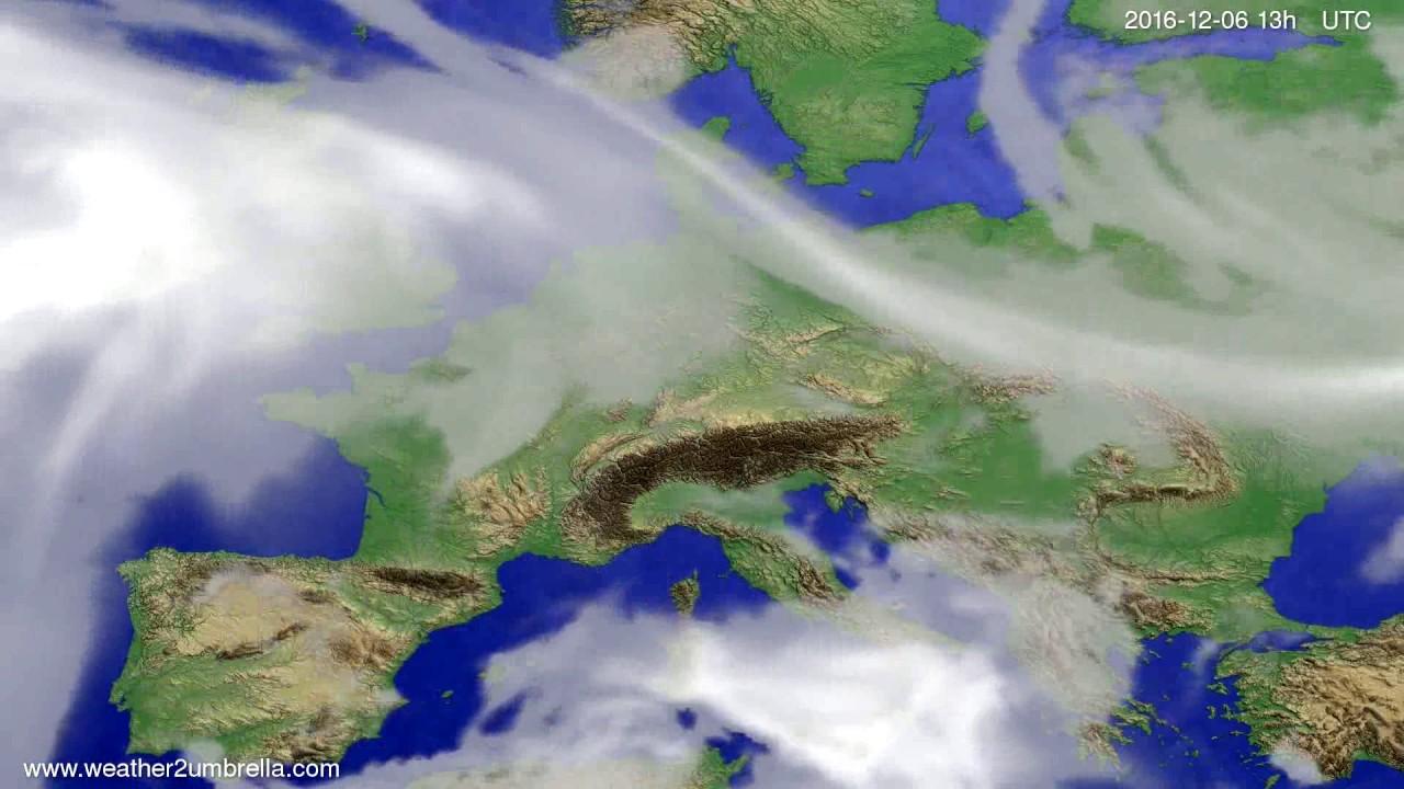 Cloud forecast Europe 2016-12-03