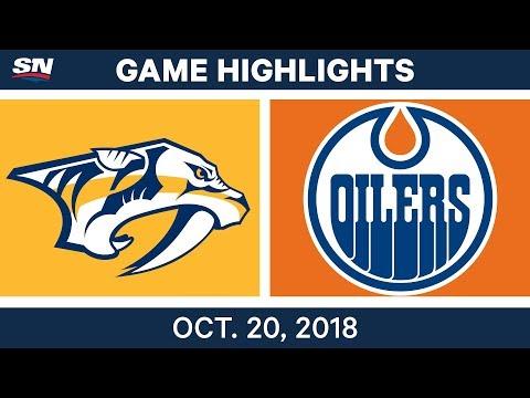 NHL Highlights  Predators vs. Oilers - Oct. 20, 2018