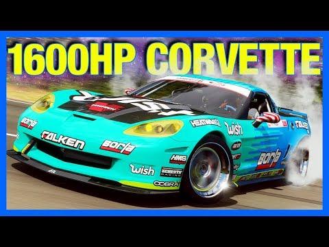 Forza Horizon 4 : 1600 Horsepower Corvette!! (FH4 Formula Drift Corvette)