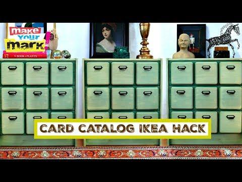 Card Catalog Ikea Hack DIY