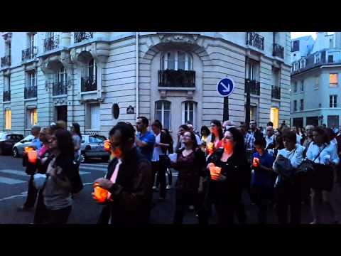 Procession à rue d'Ulm