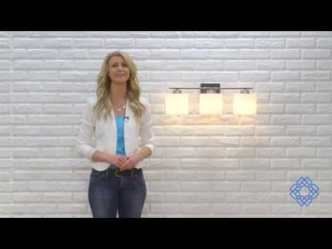 Video for Steele Brushed Nickel Three-Light Vanity