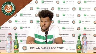 Jo-Wilfried Tsonga - Press Conference after Round 1 2017  Roland-Garros. Watch Jo-Wilfried Tsonga's press conference after his defeat against Renzo Olivo at ...
