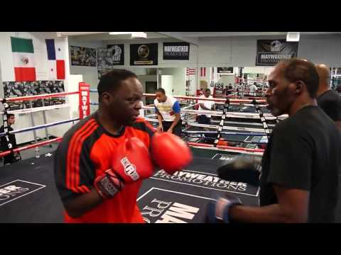 Jeff Mayweather padwork with Roger Mayweather!