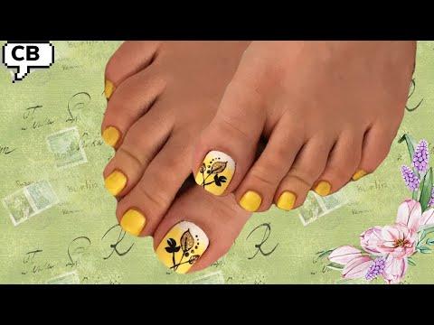 Uñas decoradas - Uñas de pies decoradas fácil y bonitas en degrade