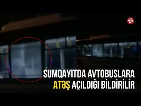 Sumqayıtda avtobuslara atəş açılıb