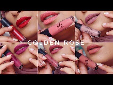 Video SWATCHES | my GOLDEN ROSE longstay lipstick collection | ارواجي المفضلة من GR download in MP3, 3GP, MP4, WEBM, AVI, FLV January 2017
