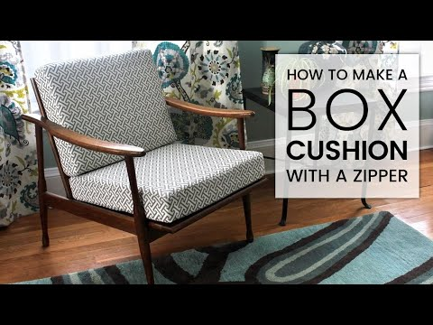 How to Make a Box Cushion with a Zipper