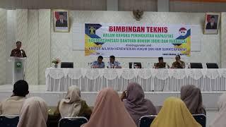 Sambutan Kepala Kantor Wilayah Hukum dan HAM Provinsi Sumbar AJUB SURATMAN, Bc. ID. S.Pd. MSi