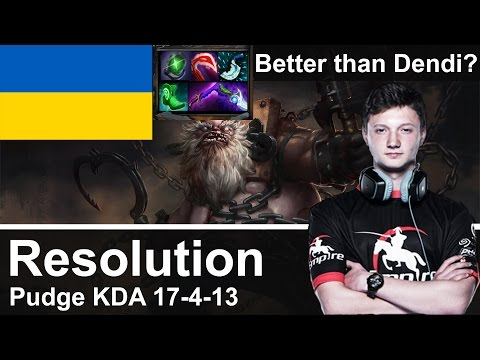 Empire Resolution plays Pudge [KDA 17-4-13, Better than Dendi?] Dota 2 [Ranked Match]