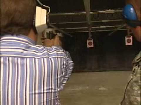 Reporter has accident in Firing Range...