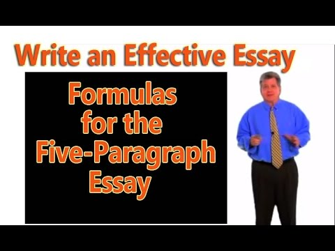 peakdavid - How to use three simple formulas to write the basic academic essay.