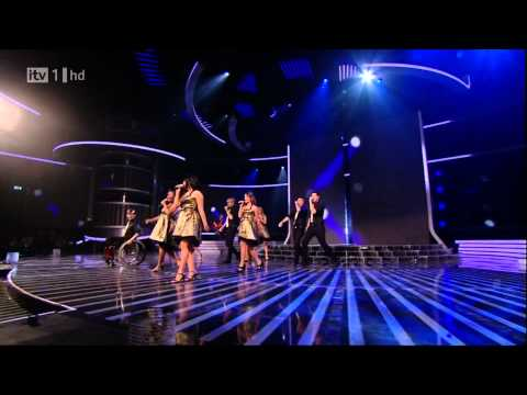 The Cast Of Glee - Don't Stop Believing - X Factor Semi Final (FULL HD) (видео)