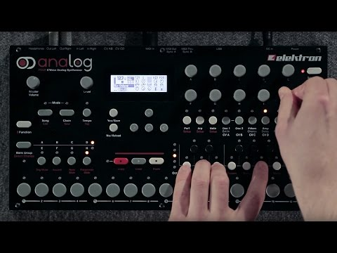 analog - The Analog Four is a 4-voice analog synthesizer with digital controls and sequencing. More info: http://www.elektron.se/products/analog.