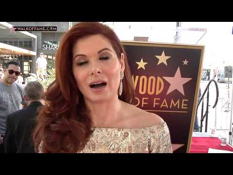 Debra Messing Walk of Fame Ceremony