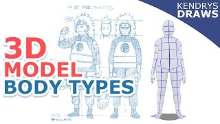 Clip studio paint- How to change body types for 3d models